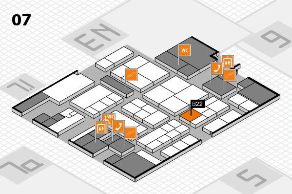 K 2016 hall map (Hall 7): stand B22