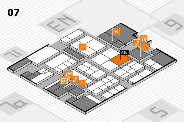 K 2016 hall map (Hall 7): stand A15