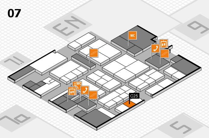 K 2016 hall map (Hall 7): stand C25