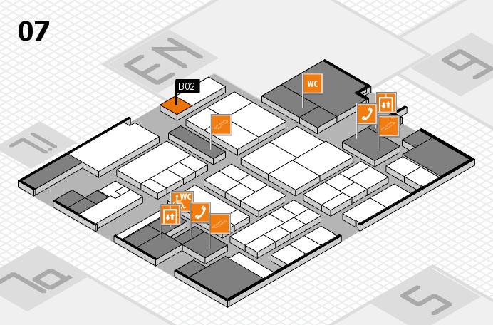 K 2016 hall map (Hall 7): stand B02