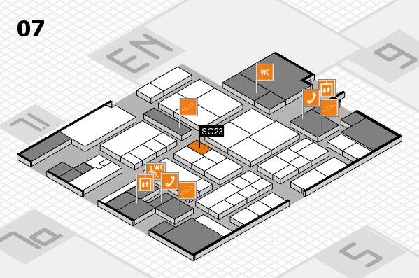 K 2016 hall map (Hall 7): stand SC23