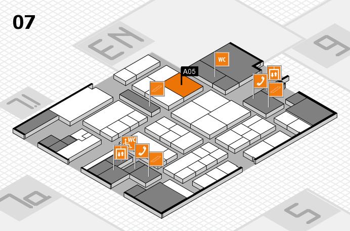 K 2016 hall map (Hall 7): stand A05