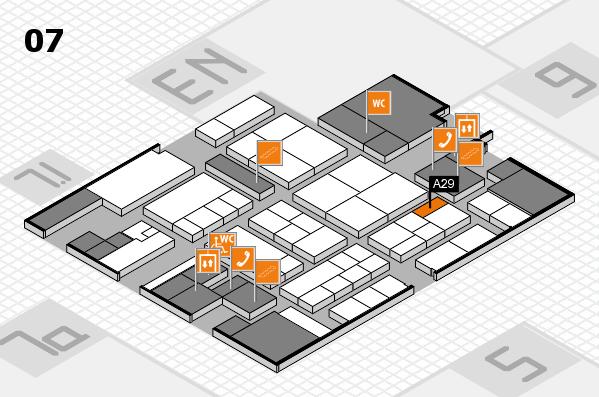 K 2016 hall map (Hall 7): stand A29