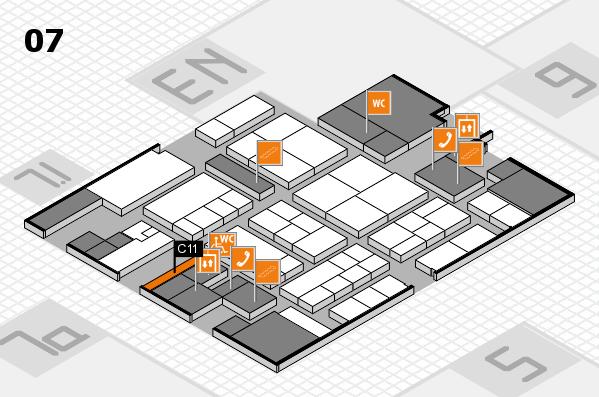 K 2016 hall map (Hall 7): stand C11