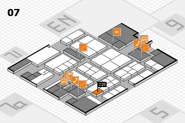K 2016 hall map (Hall 7): stand C26
