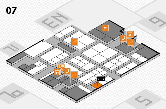 K 2016 hall map (Hall 7): stand C34