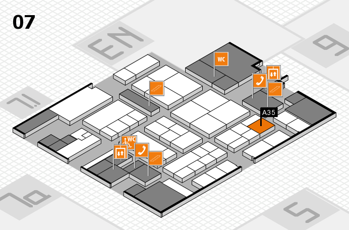 K 2016 hall map (Hall 7): stand A35