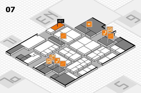 K 2016 hall map (Hall 7): stand A01