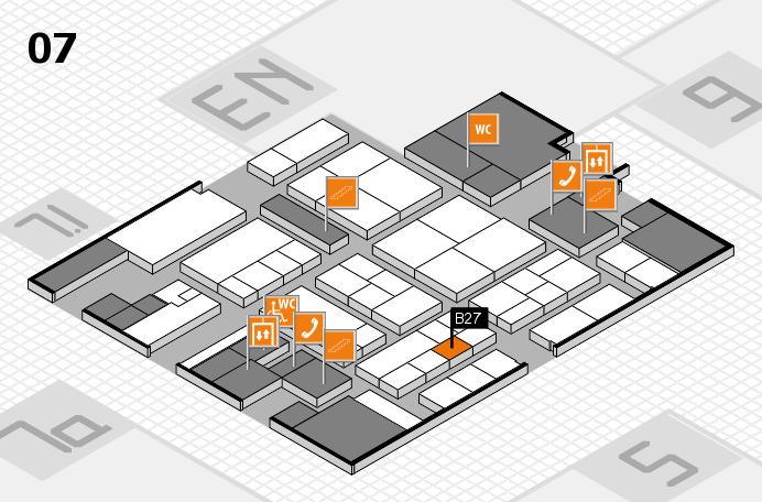 K 2016 hall map (Hall 7): stand B27