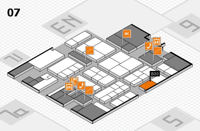 K 2016 hall map (Hall 7): stand B30
