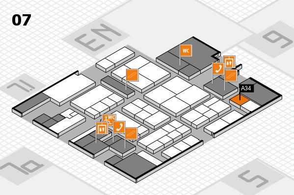 K 2016 hall map (Hall 7): stand A34