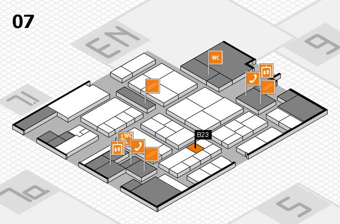 K 2016 hall map (Hall 7): stand B23