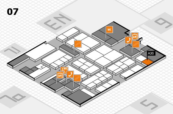 K 2016 hall map (Hall 7): stand A36