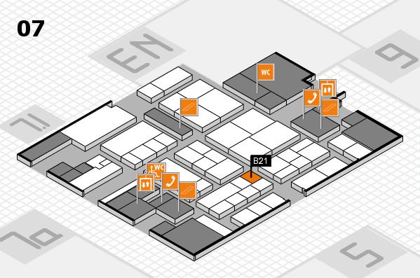 K 2016 hall map (Hall 7): stand B21
