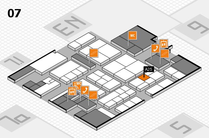 K 2016 hall map (Hall 7): stand A25