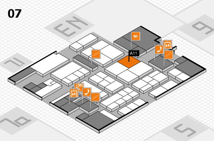 K 2016 hall map (Hall 7): stand A11