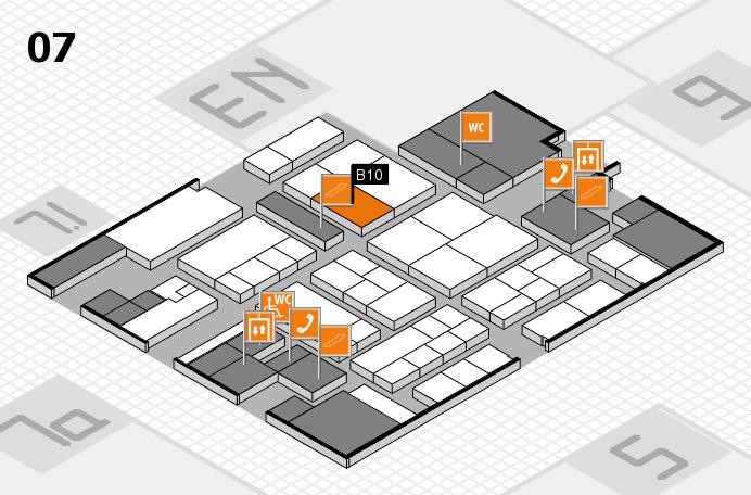 K 2016 hall map (Hall 7): stand B10