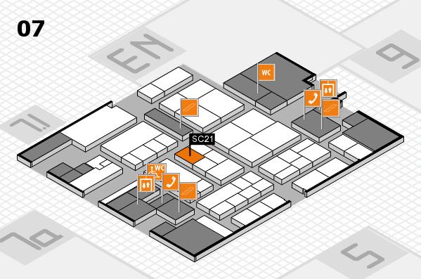 K 2016 hall map (Hall 7): stand SC21