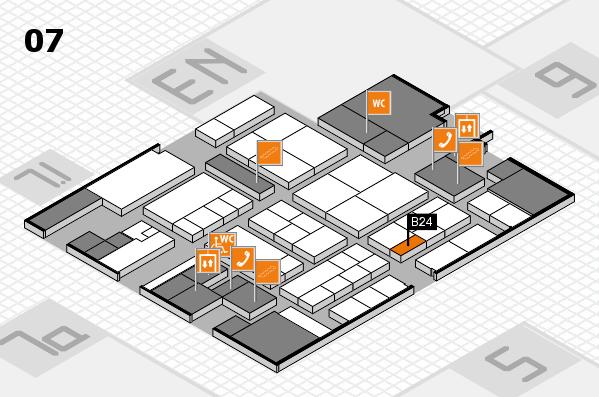 K 2016 hall map (Hall 7): stand B24