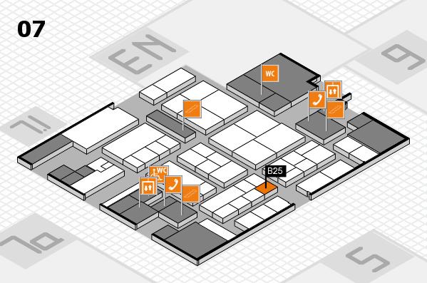 K 2016 hall map (Hall 7): stand B25