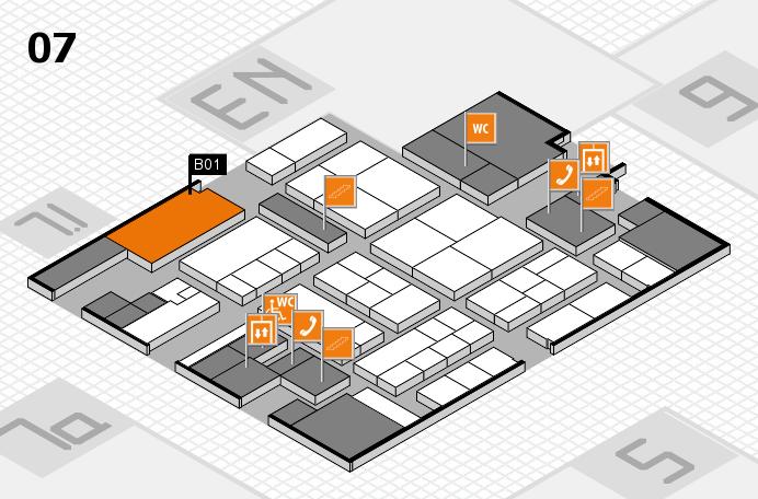K 2016 hall map (Hall 7): stand B01