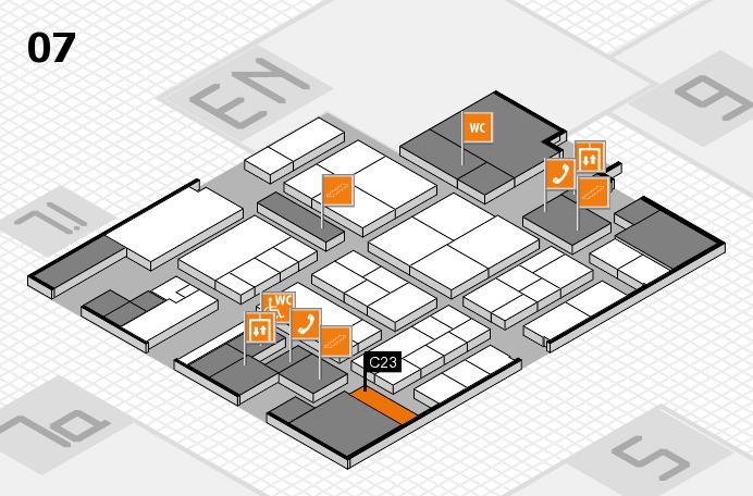K 2016 hall map (Hall 7): stand C23