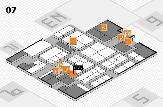 K 2016 hall map (Hall 7): stand SC17