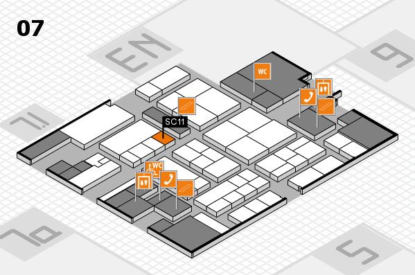 K 2016 hall map (Hall 7): stand SC11