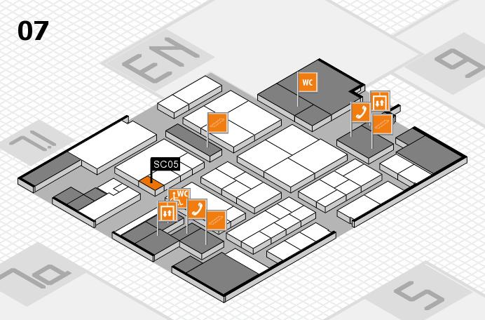 K 2016 hall map (Hall 7): stand SC05