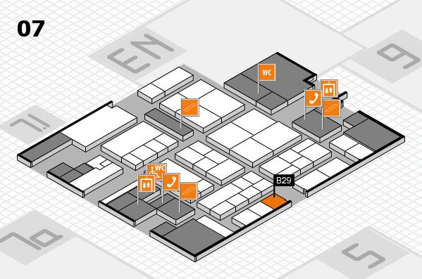 K 2016 hall map (Hall 7): stand B29