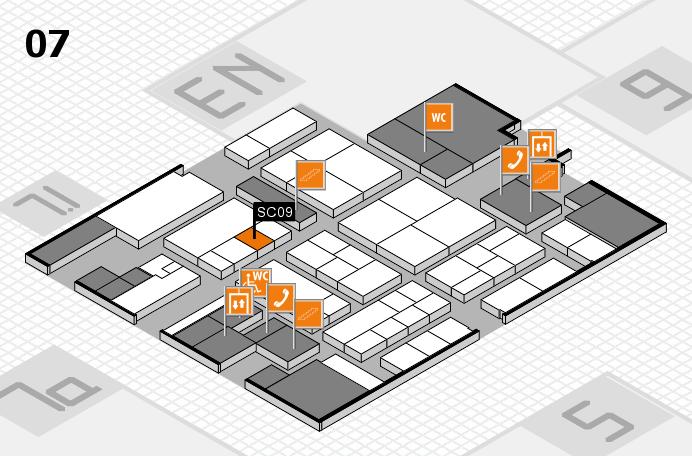 K 2016 hall map (Hall 7): stand SC09