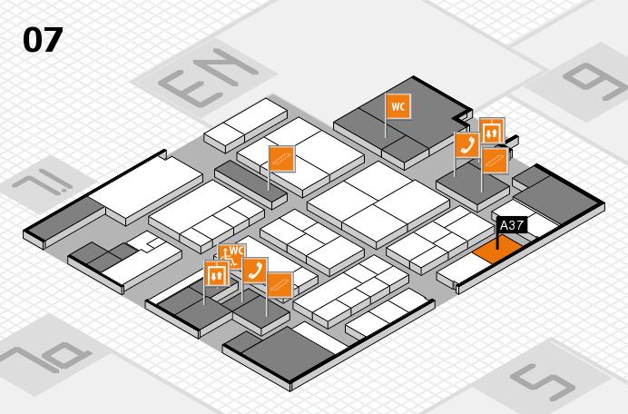 K 2016 hall map (Hall 7): stand A37