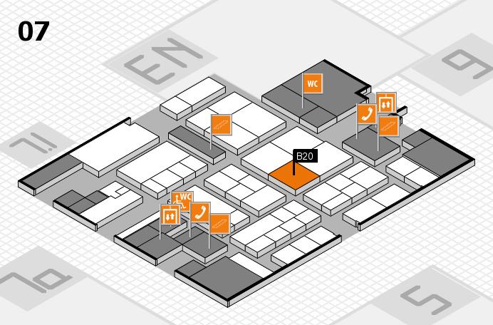 K 2016 hall map (Hall 7): stand B20