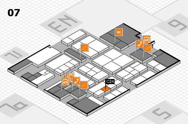 K 2016 hall map (Hall 7): stand C24