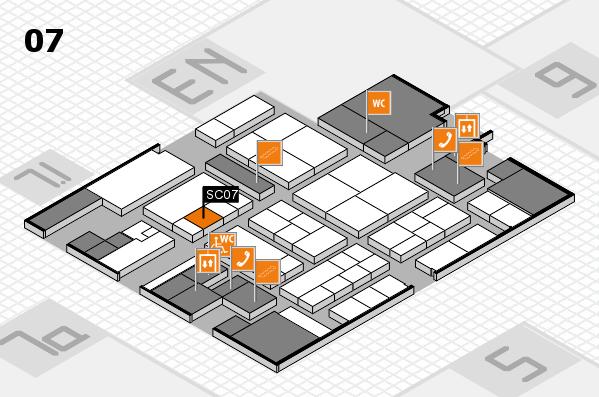 K 2016 hall map (Hall 7): stand SC07
