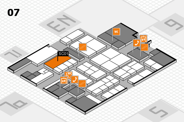 K 2016 hall map (Hall 7): stand SC01