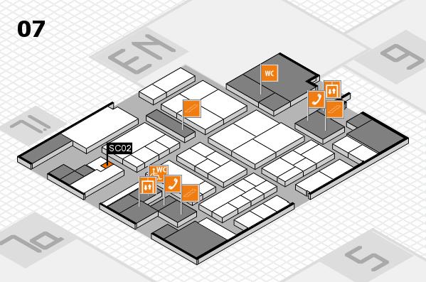K 2016 hall map (Hall 7): stand SC02