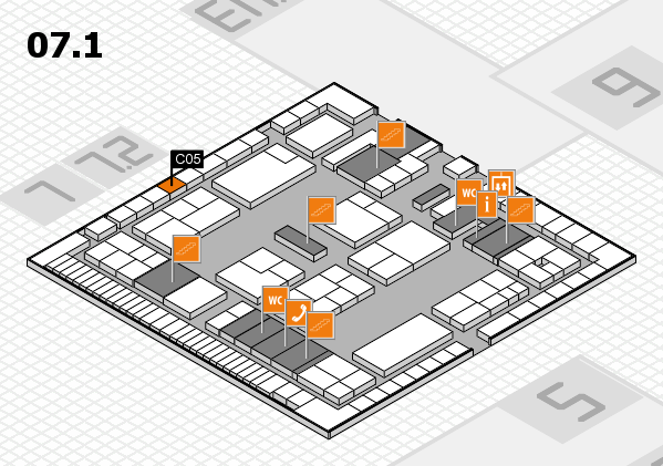 K 2016 hall map (Hall 7, level 1): stand C05