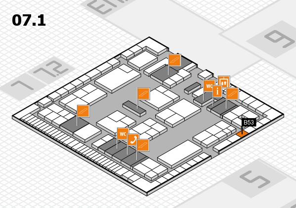 K 2016 hall map (Hall 7, level 1): stand B53