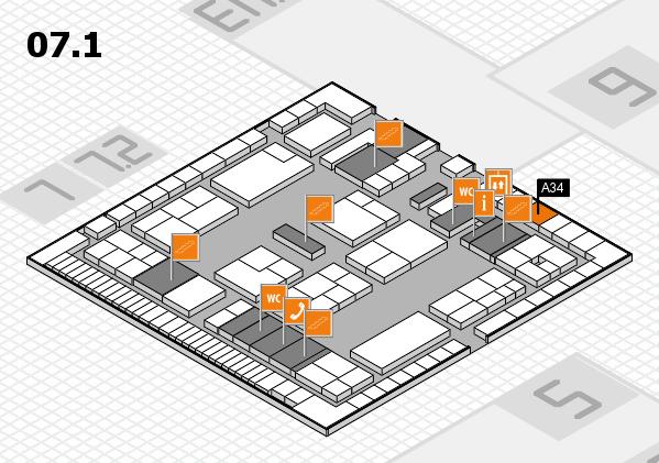 K 2016 Hallenplan (Halle 7, Ebene 1): Stand A34