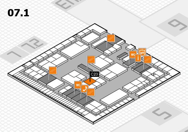 K 2016 hall map (Hall 7, level 1): stand C23