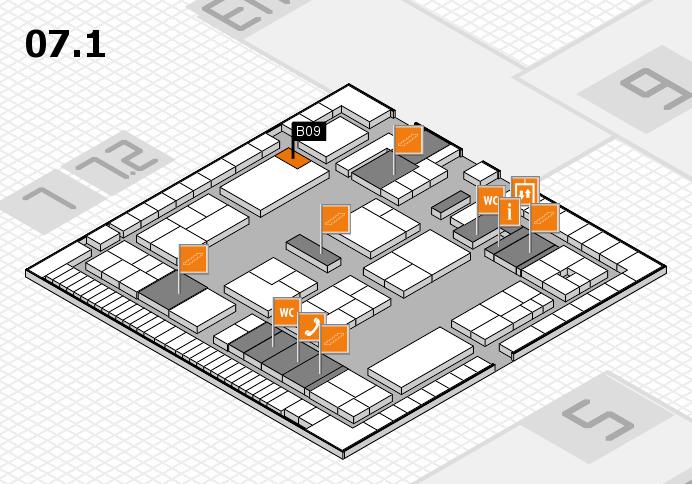 K 2016 hall map (Hall 7, level 1): stand B09