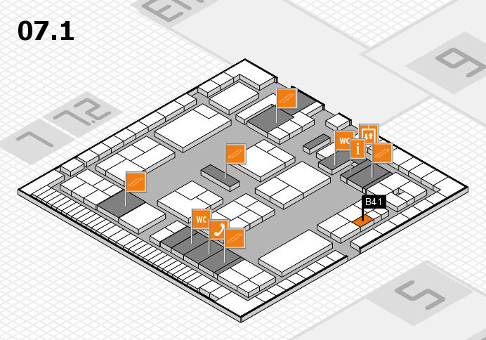 K 2016 hall map (Hall 7, level 1): stand B41
