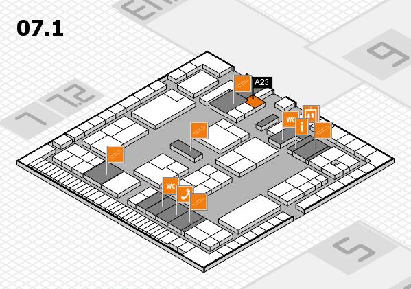 K 2016 Hallenplan (Halle 7, Ebene 1): Stand A23