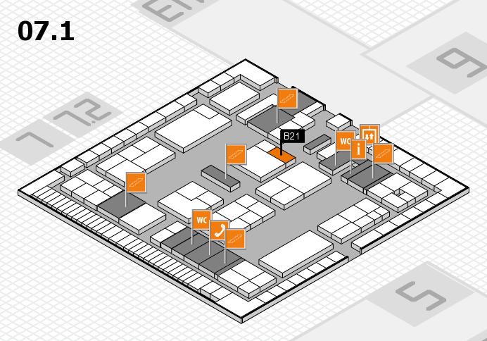 K 2016 Hallenplan (Halle 7, Ebene 1): Stand B21
