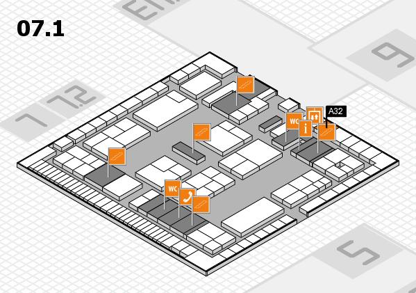 K 2016 Hallenplan (Halle 7, Ebene 1): Stand A32