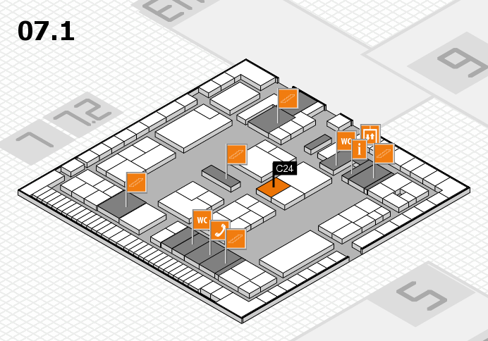 K 2016 hall map (Hall 7, level 1): stand C24