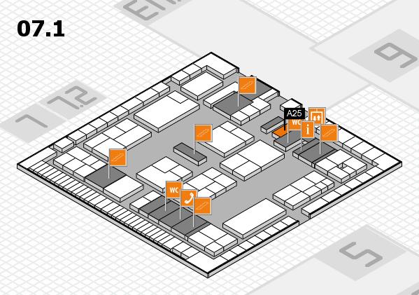 K 2016 Hallenplan (Halle 7, Ebene 1): Stand A25