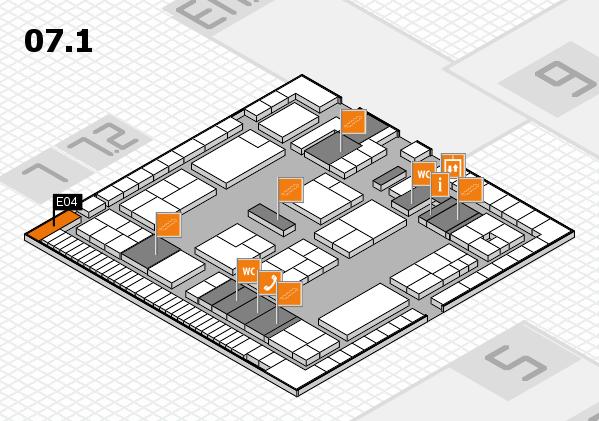 K 2016 Hallenplan (Halle 7, Ebene 1): Stand E04