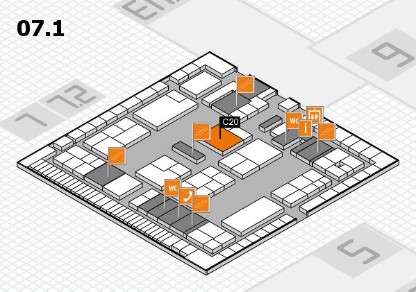 K 2016 hall map (Hall 7, level 1): stand C20
